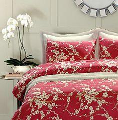 Japanese Oriental Style Cherry Red Blossom Floral branches Print Duvet Quilt Cover 300tc Cotton Bedding 3 piece Set (Queen) Eikei http://smile.amazon.com/dp/B01CBZ1H44/ref=cm_sw_r_pi_dp_IGTbxb135SBRP
