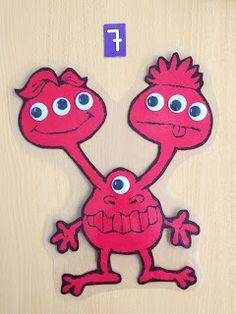 EJERCICIO PARA REPARTO REGULAR: Este monstruo es muy peculiar, tiene dos cabezas y debe tener el mismo número de ojos en ambas o se vuelve m...