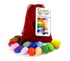 Crayon Rocks Crayon Rocks Rood fluwelen zakje met 16 krijtjes
