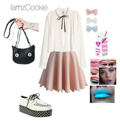 """Crybaby pt. 2 tour outfit"" by iamzcookie ❤ liked on Polyvore featuring Chicwish, H&M, T.U.K., Valfré, Forever 21 and Decree"