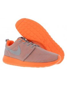 newest 6c0fe 20fda Nike Roshe One Prem Men s Running Shoes (Wolf Grey Total Orange)   A