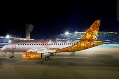"""Photo of the Day: Winner of the """"Paint the Aeroflot plane"""""""