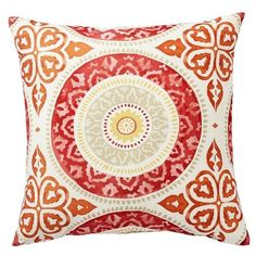 Pottery Barn Leona Medallion Indoor/Outdoor Pillow (110 SAR) ❤ liked on Polyvore featuring home, outdoors, outdoor decor, pottery barn, outdoor patio decor and outdoor garden decor