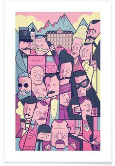 Grand Budapest Hotel en Affiche premium par Ale Giorgini | JUNIQE