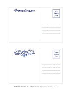 Postcard Template Free Printable Art Ideas Fabri
