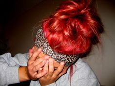 Red Purple Hair, Red Hair, Fun Buns, Messy Bun, Top Knot, Updos, Hair And Nails, Ponytail, Hair Makeup