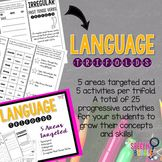Language Trifolds: not your average worksheet!  This 'worksheet' folds up into 5 different, progressive activities for your students!