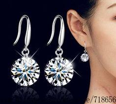 Silver plated  earrings , silver fashion jewelry , 8MM 10MM /dbpalswa frzaojga E153 #Affiliate