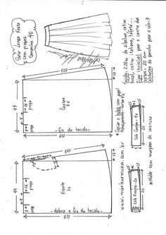 43 Ideas for sewing costura moldes Skirt Patterns Sewing, Sewing Patterns Free, Clothing Patterns, Blouse Tutorial, Costura Fashion, Pattern Draping, Sewing Class, Sewing For Beginners, Fashion Sewing
