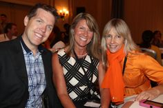 Shane Skillen of Hotspex, Michelle Adams of Marketing Brainology, and Caroline Winnett of NeuroFocus having a good time