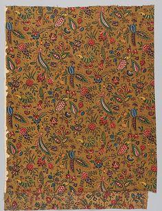 """""""Les Coquecigrues"""" * cotton     ca. 1785 Oberkampf Manufactory Jouy-en-Josas (active 1760–1843)"""
