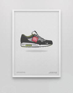 PWERWOTAM Mur Art Chaussures De Basket-Ball Sneakers Chaussures Affiche Image Affiche Et Imprimer Toile Peinture Chambre D/écoration 42X60Cm sans Cadre