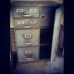 WWII Era, Globe Wernicke Steel File Cabinet paid 15 bucks ...