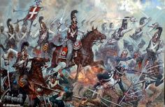 Russian Horse Guards stopping the charge of French Mounted Chasseurs in the battle of Austerlitz (1805)