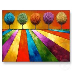 Magical Place Landscape Art Post Cards by artfulescapes