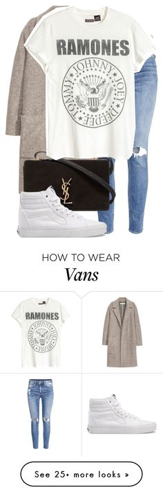 """Untitled #1497"" by triskid on Polyvore featuring H&M, Yves Saint Laurent and Vans"