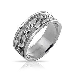 Bling Jewelry Stainless Steel Tribal Chinese Zodiac Drago...