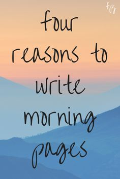 fine print journaling: four reasons to write morning pages