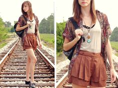 Ruffled Shorts & Oxfords-- Street Style at Fall 2013-  Libby Story Renaissance at Colony Park 601.717.3300 #shoprenaissance