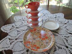 Vintage 12-Piece Melamine Dinnerware Set  Orange by aprilleialoha