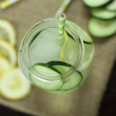 Stay hydrated with this delicious Lemon Cucumber Infused Water.