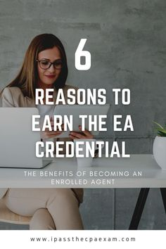Are you a tax preparer looking to advance your career? Or, are you planning to break into the tax profession? In either scenario, the best thing you can do is earn the enrolled agent (EA) credential. #EA #enrolledagent