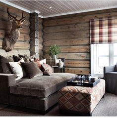 Cabin-life Tag someone who could need this right now Cabin Homes, Log Homes, Log Cabin Bedrooms, Cabin Chic, Cozy Cabin, Cabin Interiors, Cabin Design, Cozy House, Sweet Home