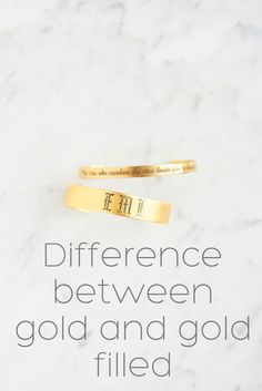 Whats the difference between gold and gold filled? We have the answers!   ExVoto Vintage Jewelry