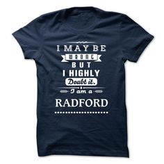 Cool RADFORD is the BEST TSHIRT 2015 T-Shirts