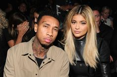 12.9.15 - Kylie and Tyga at the Alexander Wang SS16 Fashion Show