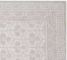 Rug for bedrooms or family rooms- pattern fades into background and won't look busy once we have furniture over it.:) Braylin Tufted Wool Rug - Gray | Pottery Barn