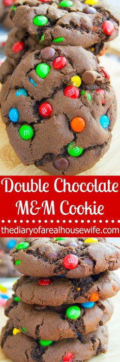 Double chocolate! Need I say more? You are going to LOVE these perfect double chocolate M&M cookies.