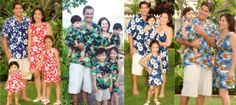 Matching Family Hawaiian Clothing - Aloha Shirts - Tropical Clothing - Apparel - Baby - Kids - Men - Women