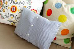 Got any old or ripped shirts lying around? Make a pillow!