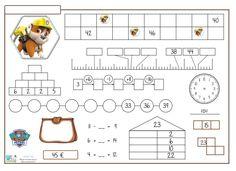 Sigo con la Rutina Matemática, en esta ocasión Paw Patrol, La Patrulla Canina, temática que encanta a los niños de estas edades. Si sóis seguidores