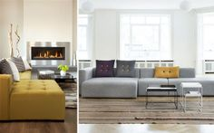 Cómo decorar el salón con un sofá chaiselongue  |  DECOFILIA.com