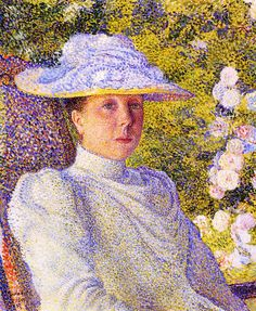 Portrait of Mathilde Vereeken, 1891 - Théo (Théophile) van Rysselberghe (Belgian 1862 – 1926)