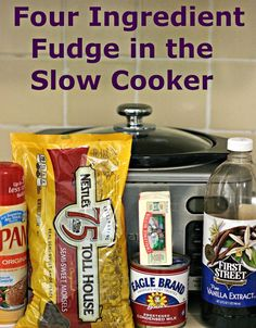 A Year of Slow Cooking: Four Ingredient Fudge in the Slow Cooker (Chocolate chips, condensed milk, vanilla butter) ♨️ I might try this one after the other crock pot fudge recipe I found to see which one I like the best. Slow Cooker Fudge, Crock Pot Slow Cooker, Slow Cooker Recipes, Crockpot Recipes, Cooking Recipes, Roast Recipes, Cooking Tips, Kale Recipes, Lunch Recipes