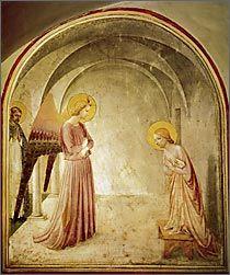 フラ・アンジェリコ「受胎告知」(1438-46年頃)