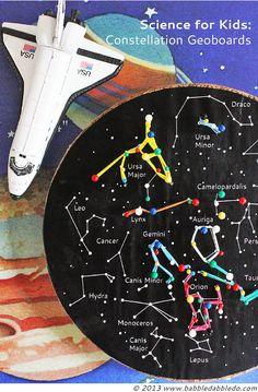 Creacion de las constelaciones mediante la siguiente manualidad