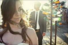 Bride in foreground.  Photo by Amelia Lyon