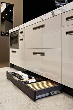 New house design interior modern kitchen ideas Kitchen Rack Design, Luxury Kitchen Design, Best Kitchen Designs, Interior Design Kitchen, Kitchen Storage, Wine Storage, Interior Modern, Modern Luxury, Kitchen Racks