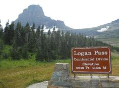 Going-to-the-Sun Road: Logan Pass- the halfway point on the road Glacier Park Montana