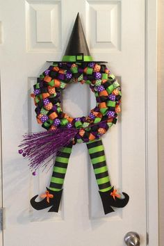 Hey, I found this really awesome Etsy listing at http://www.etsy.com/listing/154290811/be-witching-halloween-wreath