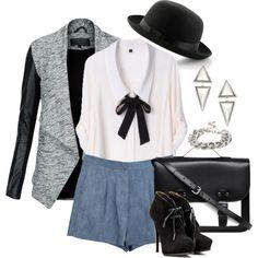 ... (Grey Leather-Look Sleeve Waterfall Jacket $56)