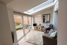 Discover a tiled conservatory roof that's also glazed with the Ultraroof. Conservatory Interiors, Conservatory Dining Room, Modern Conservatory, Conservatory Roof, Extension Veranda, Conservatory Extension, House Extension Design, Extension Ideas, Rear Extension