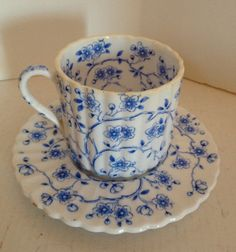 Charming Vintage Chintz Blue Demitasse Cup and by itsasimplelife, $14.50
