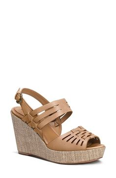 Women's Trask 'Willow' Leather Platform Wedge Sandal