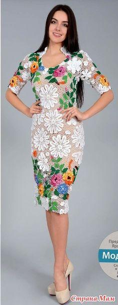 . Волшебные цветы. Белое ажурное платье. - Все в ажуре... (вязание крючком) - Страна Мам