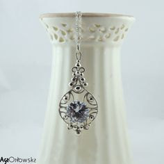 Light Catcher -  silver pendant with great cubic zirconia